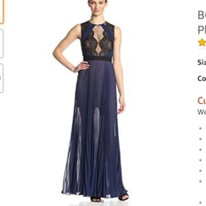 BCBG Sleeveless Pleated Gown